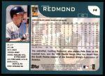 2001 Topps #14  Mike Redmond  Back Thumbnail