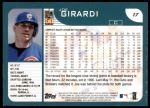 2001 Topps #17  Joe Girardi  Back Thumbnail