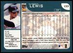 2001 Topps #133  Darren Lewis  Back Thumbnail
