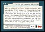 2001 Topps #764   Houston Astros Team Back Thumbnail