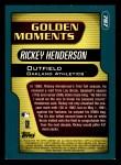2001 Topps #787   -  Rickey Henderson Golden Moments Back Thumbnail