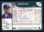 2001 Topps #491  David Justice  Back Thumbnail
