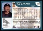 2001 Topps #565  Benny Agbayani  Back Thumbnail