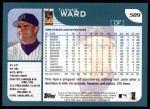 2001 Topps #589  Turner Ward  Back Thumbnail