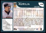 2001 Topps #598  Rich Aurilia  Back Thumbnail