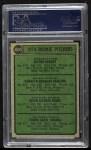 1974 Topps #605   -  Frank Tanana / Vic Albury / Ken Frailing / Kevin Kobel Rookie Pitchers  Back Thumbnail