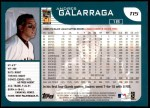 2001 Topps Traded #15 T Andres Galarraga  Back Thumbnail