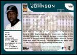 2001 Topps Traded #22 T Charles Johnson  Back Thumbnail