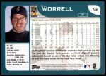 2001 Topps Traded #61 T Tim Worrell  Back Thumbnail