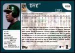 2001 Topps Traded #69 T Jermaine Dye  Back Thumbnail