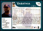 2001 Topps Traded #88 T C.C. Sabathia  Back Thumbnail