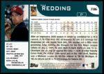 2001 Topps Traded #96 T Tim Redding  Back Thumbnail
