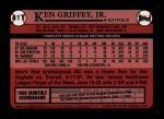 2001 Topps Traded #132 T  -  Ken Griffey Jr. 89  Back Thumbnail