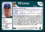 2001 Topps Traded #166 T Chris George  Back Thumbnail