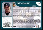 2001 Topps Traded #211 T Erick Almonte  Back Thumbnail