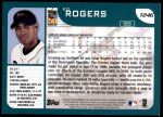 2001 Topps Traded #246 T Ed Rogers  Back Thumbnail