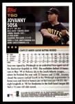 2000 Topps Traded #60 T Jovanny Sosa  Back Thumbnail