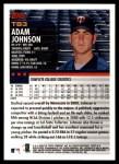 2000 Topps Traded #83 T Adam Johnson  Back Thumbnail