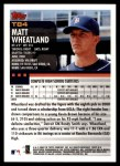 2000 Topps Traded #84 T Matt Wheatland  Back Thumbnail