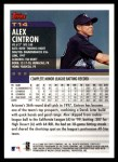 2000 Topps Traded #14 T Alex Cintron  Back Thumbnail