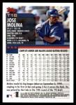 2000 Topps Traded #18 T Jose Molina  Back Thumbnail