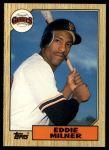 1987 Topps Traded #78 T Eddie Milner  Front Thumbnail