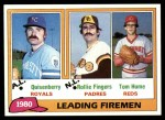 1981 Topps #8   -  Dan Quisenberry / Tom Hume / Rollie Fingers Saves Leaders Front Thumbnail