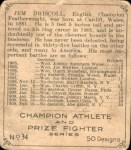 1910 C52 Imperial Tobacco #34  Jem Driscoll  Back Thumbnail