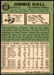 1967 Topps #432  Jimmie Hall  Back Thumbnail