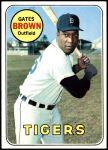 1969 Topps #256  Gates Brown  Front Thumbnail