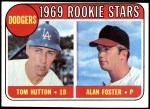 1969 Topps #266   -  Alan Foster / Tommy Hutton Dodgers Rookies   Front Thumbnail