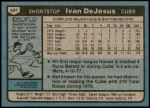 1980 Topps #691  Ivan DeJesus  Back Thumbnail