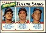1980 Topps #665   -  Larry Andersen / Bobby Cuellar / Sandy Wihtol Indians Rookies Front Thumbnail