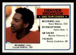 1983 Topps #260   -  Gerald Willhite / Steve Watson / Aaron Kyle / Barney Chavous / Randy Gradishar Broncos Leaders Front Thumbnail