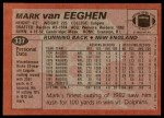 1983 Topps #337  Mark Van Eeghen  Back Thumbnail