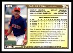 1999 Topps Traded #46 T Carlos Pena  Back Thumbnail