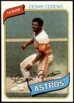 1980 Topps #370  Cesar Cedeno  Front Thumbnail
