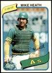 1980 Topps #687  Mike Heath    Front Thumbnail