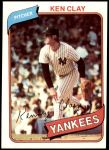 1980 Topps #159  Ken Clay  Front Thumbnail