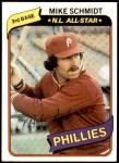 1980 Topps #270  Mike Schmidt    Front Thumbnail