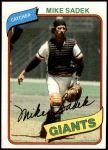 1980 Topps #462  Mike Sadek    Front Thumbnail