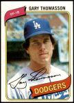 1980 Topps #127  Gary Thomasson  Front Thumbnail
