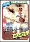 1980 Topps #195  John Montefusco  Front Thumbnail