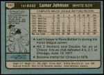 1980 Topps #242  Lamar Johnson  Back Thumbnail