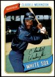 1980 Topps #322  Claudell Washington  Front Thumbnail