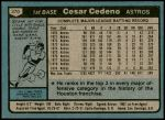 1980 Topps #370  Cesar Cedeno  Back Thumbnail
