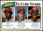 1980 Topps #677   -  Art DeFreites / Frank Pastore / Harry Spilman  Reds Rookies Front Thumbnail