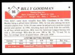 1979 TCMA The 1950's #96  Billy Goodman  Back Thumbnail