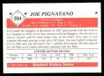 1979 TCMA The 1950's #204  Joe Pignatano  Back Thumbnail