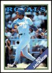 1988 Topps #750  Bo Jackson  Front Thumbnail